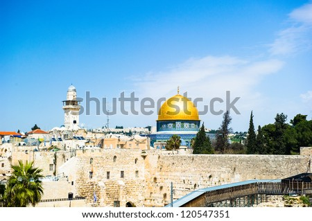 The Temple Mount (Jerusalem, Israel) is the place where the Jewish temple was built, starting from King Solomon almost 3,000 years ago.