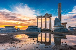 The Temple of Apollo in Side Town of Antalya Province.