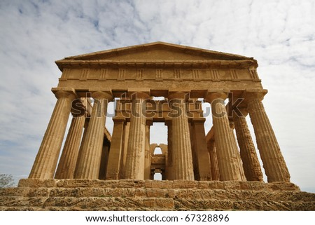 Shutterstock The Temple of Concordia - ancient Greek landmark in Agrigento, Sicily. It is the UNESCO World Heritage Site