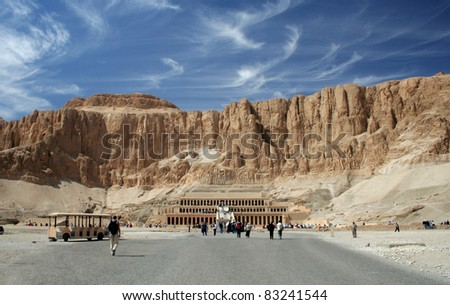 The Temple of Hatshepsut in the Valley of the Kings