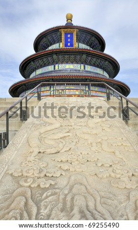 The Temple of Heaven (TianTan) where emperors would offer sacrifices to heaven and pray for good harvests .At the north end of the Temple of Heaven is the majestic Hall of Prayer for Good Harves