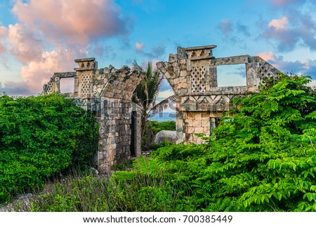 Shutterstock The temple of Ixchel at Beach of Isla Mujeres at sunset. Ixchel - Mayan goddess of Moon and Fertility. Isla Mujeres - beautiful island lies in 8 miles northeast of Cancun in Caribbean Sea. Mexico.