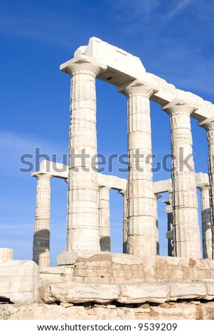 The Temple of Poseidon at Cape Sounion near Athens, Greece. c 440 BC.