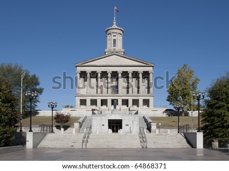 The Tennessee State Capitol Building in downtown Nashville.