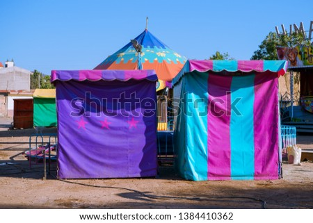 The tents and tents of the games festival have beautiful colors. #1384410362