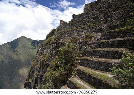 The terrace in Machu Picchu