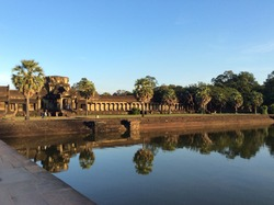 The territory of the temples of Cambodia is known throughout the world.  It is worth paying attention to the Angkor Temple Complex.  This is the most interesting and popular place to visit.
