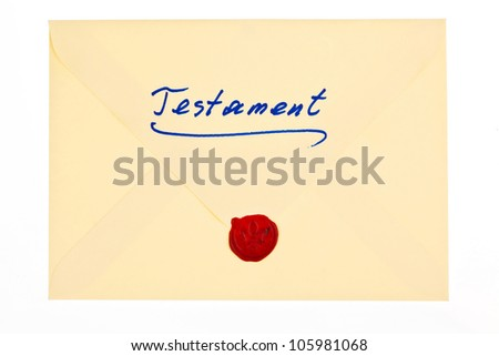 the testament of a deceased person in german. last will and inheritance