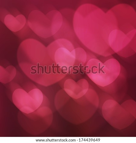 The Texture Abstract Background Is The Heart In Love Bokeh Light