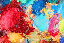 the texture color palette with mixed paints