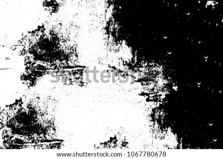 The texture is black and white abstract. Grunge background is dark. Elements for printing and design #1067780678