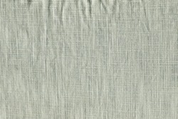 The texture of a coarse linen fabric with a clear interweaving of threads. The burlap is grey.