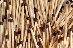 The texture of a heap of matches. Unused matches