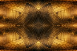 The texture of black gold. Abstract fractal. Fractal art background for creative design. Decoration for wallpaper desktop, poster, cover booklet, card.