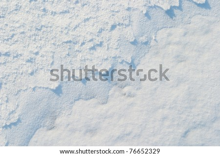The texture of fresh frosty white snow