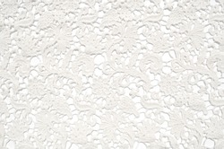 The texture of lace on a white background