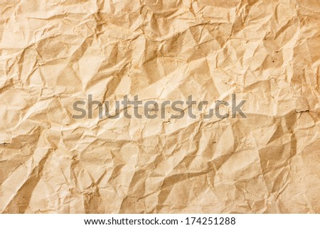 The texture of old brown crumpled paper