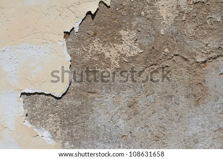 The texture of old plaster close-up.