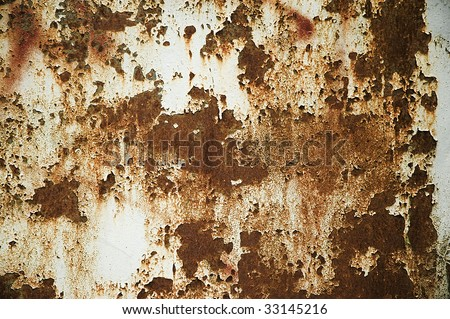 the texture of old rust metal wall