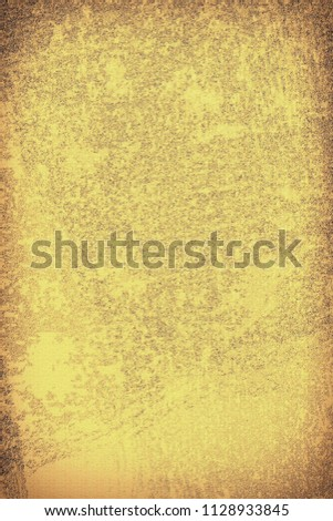 The texture of old yellow paper. Abstract grunge background #1128933845
