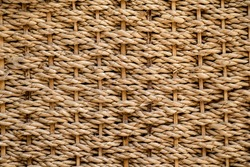 The texture of straw, weaving from straws background