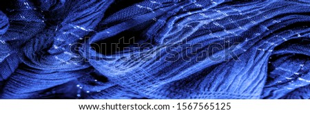 The texture of the background picture, the ornament of the decor, sapphire blue corrugated fabric, fabric with parallel or diagonal folds with serrated folds; products from such a fabric. #1567565125