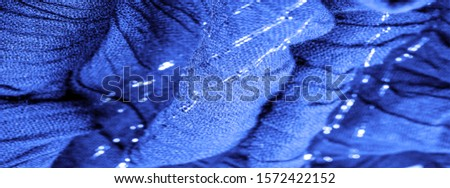 The texture of the background picture, the ornament of the decor, sapphire blue corrugated fabric, fabric with parallel or diagonal folds with serrated folds; products from such a fabric. #1572422152