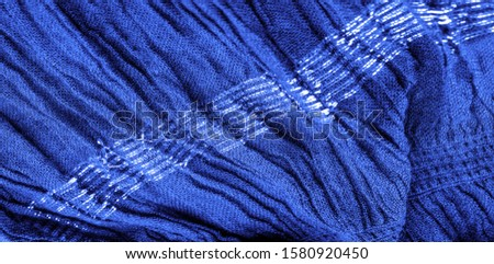 The texture of the background picture, the ornament of the decor, sapphire blue corrugated fabric, fabric with parallel or diagonal folds with serrated folds; products from such a fabric. #1580920450