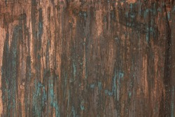 The texture of the copper background is covered with a patina. The surface is painted copper.