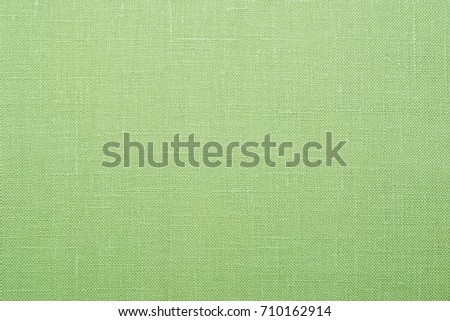 The texture of the fabric natural linen green