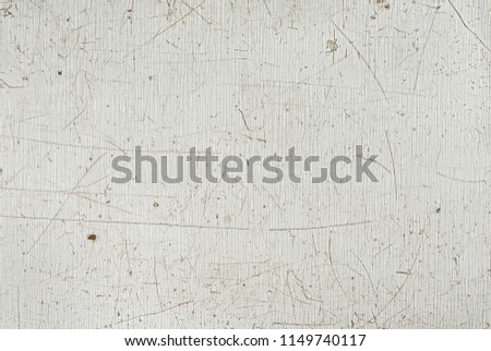 the texture of the old white plastic. dirty and scratched surface #1149740117