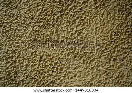 The texture of the paint rough yellow rough sharpen