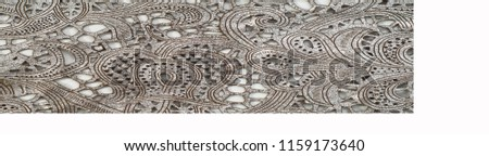 the texture of the skin with embossed floral pattern. abstract vintage leather floral pattern. Leather floral pattern background.  #1159173640