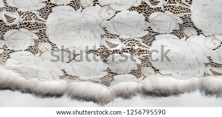 the texture of the skin with embossed floral pattern. abstract vintage leather floral pattern. Leather floral pattern background. #1256795590