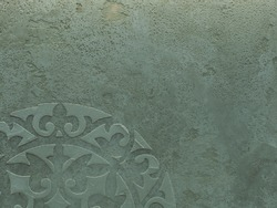 The texture of the wall is decorated with abstract decorative plaster