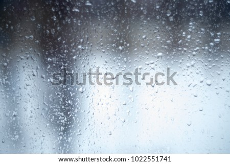 the texture of the wet glass in the rain, the substrate for the Internet #1022551741