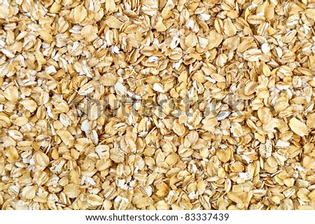 The texture of the yellow and white oat flakes