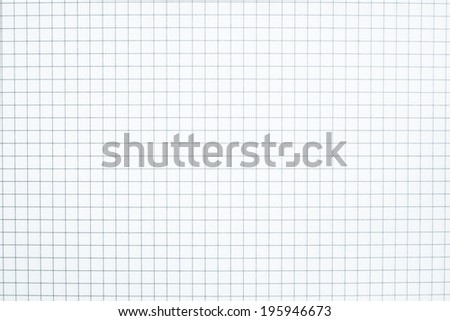the textured background in cells on a clean sheet of paper