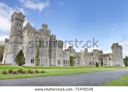 The 13th Century Ashford Castle hotel in Cong, Ireland.