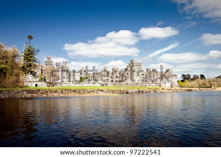 The 13th Century Ashford Castle hotel in Cong -  Ireland.