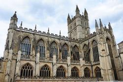 The 7th century Bath Abbey parish church and former Benedictine monastery in Bath, Somerset, England, United Kingdom