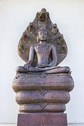 The thailand buddha on the white background