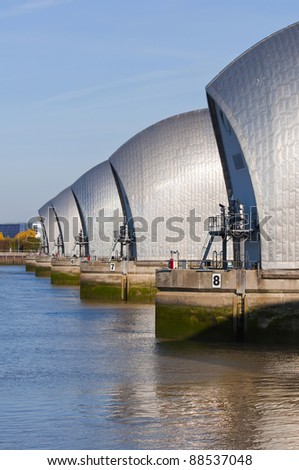 The Thames barrier in London #88537048