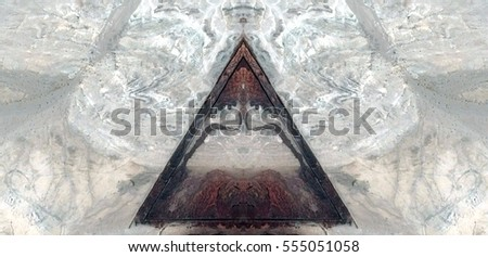 The theorem of Pythagoras, symmetrical photographs of landscapes of the deserts of Africa from the air, magical, artistic, landscapes of your mind, just for crazy, optical illusions