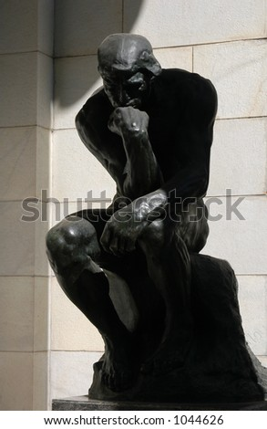The Thinker, a famous statue by Auguste Rodin