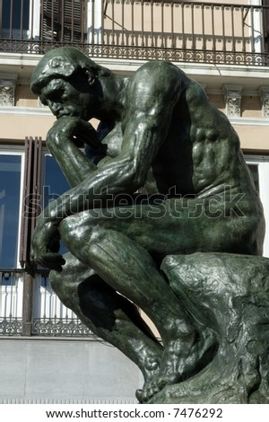 The Thinker, (copy)famous statue by Auguste Rodin