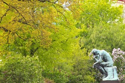 The Thinker Statue by Auguste Rodin, 1880 - 1882 at the Ny Carlsberg Glyptotek, Copenhagen, Denmark