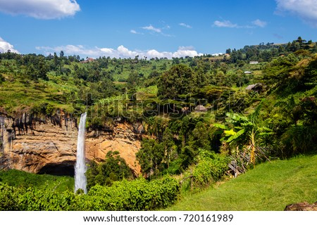 The third waterfall of the famous Sipi falls in Uganda