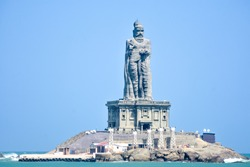 The Thiruvalluvar Statue, or the Valluvar Statue, is a 133-feet (40.6 m) tall stone sculpture of the Tamil poet and philosopher Valluvar, author of the Tirukkural, Kanyakumari, Tamilanadu India