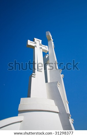 The Three Cross Hill in Vilnius, Lithuania